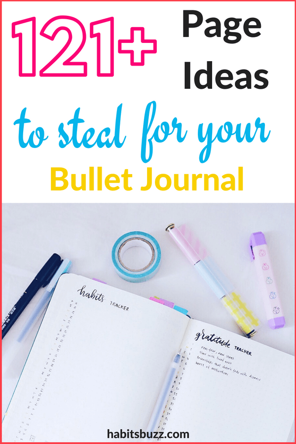 Want to organise your life and increase productivity using a bullet journal? Make use of these page ideas.