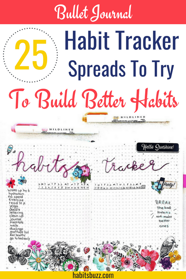 25 stunning habit trackers for your bullet journal to build better habits