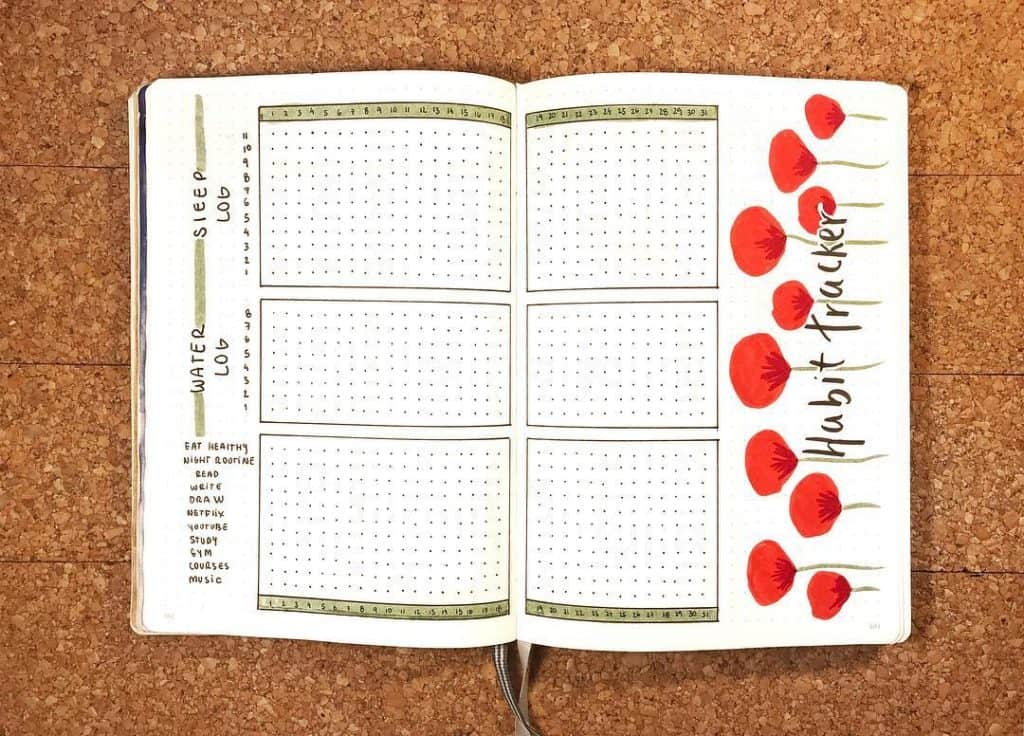 25 stunning habit trackers for your bullet journal #habits #bulletjournal #habittrackers