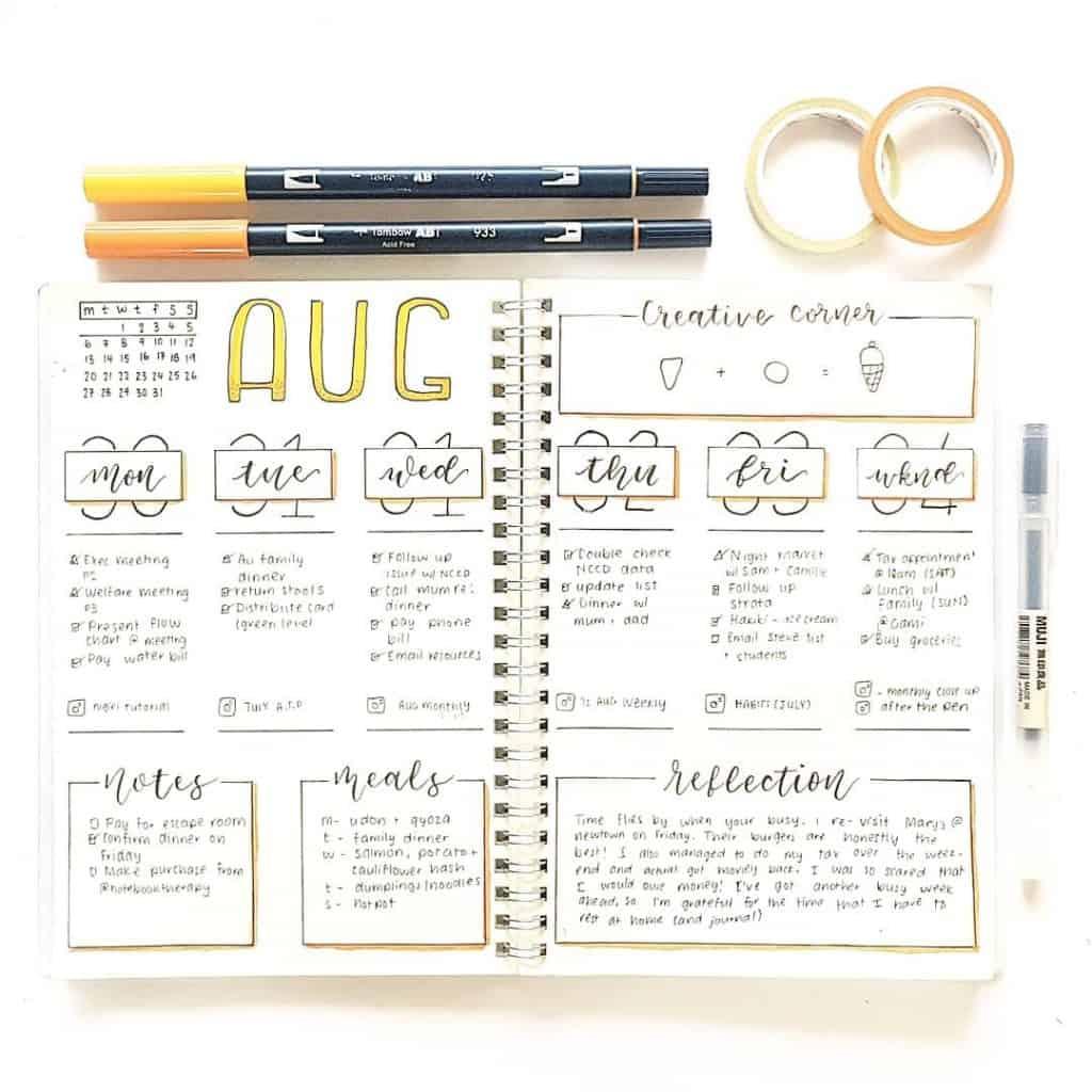 17 minimalist bullet journal accounts to follow on Instagram