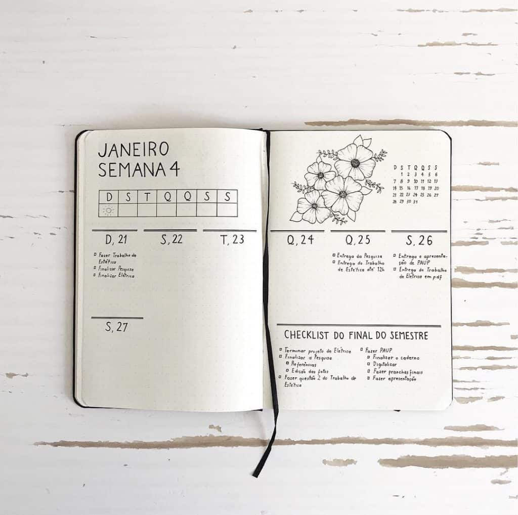 17 minimalist bullet journal accounts to follow on Instagram