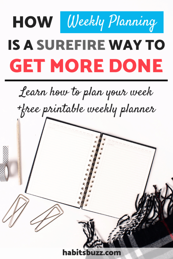 How to increase productivity through weekly planning