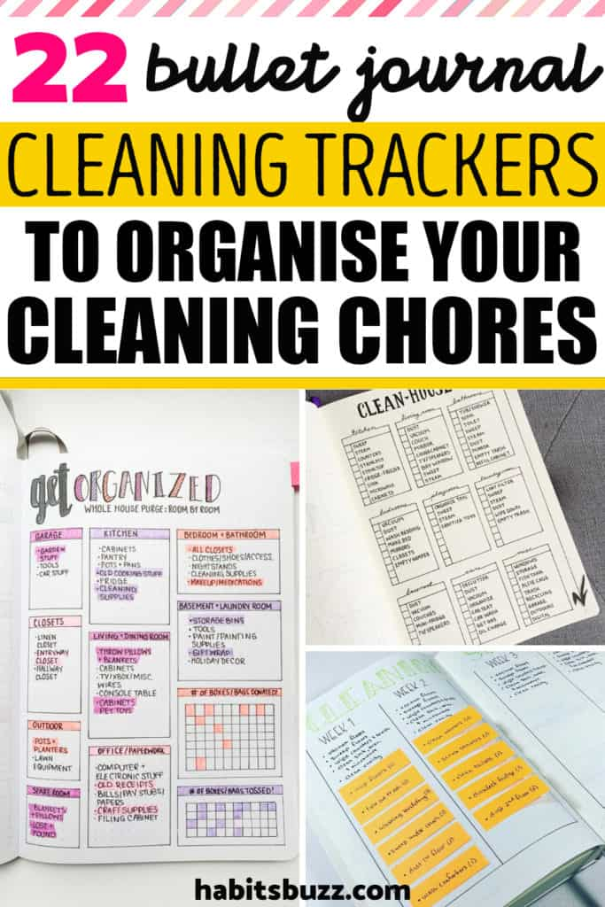 bullet journal cleaning schedule layouts