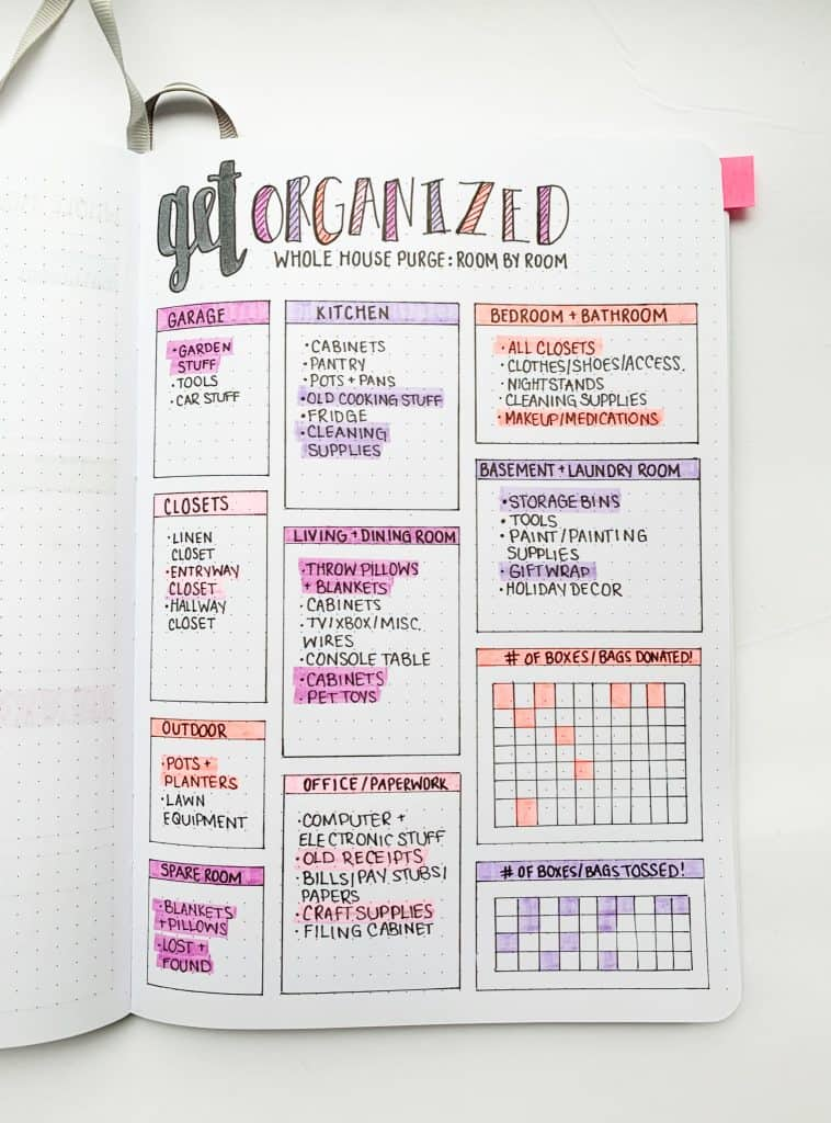 22 bullet journal cleaning layouts to keep your home squeaky clean