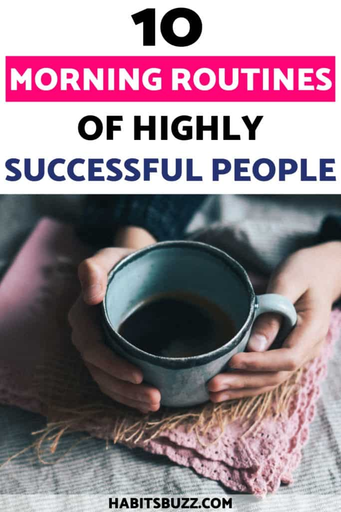 coffee mug-morning routine successful people