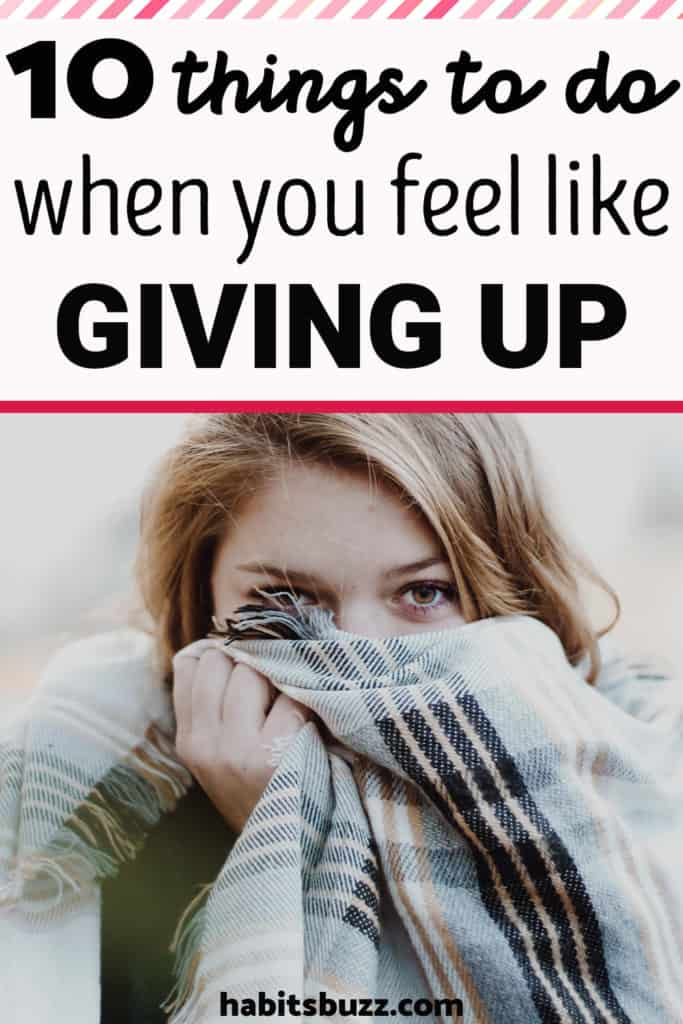 Girl with a blanket- what to do when you just want to give up