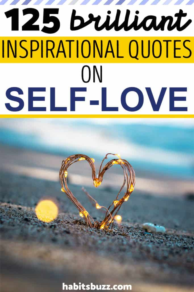 Inspirational quote on self-love/loving yourself