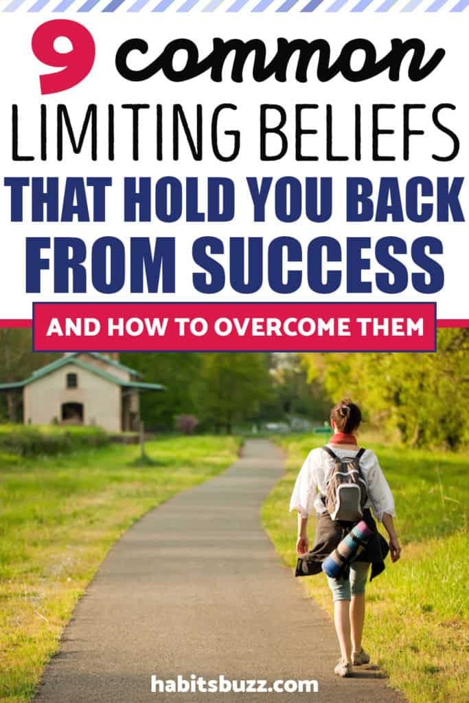 How to overcome limiting beliefs- a woman walking with a backpack