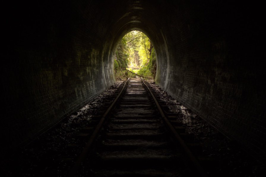 light at the end of the tunnel-stay strong in tough times